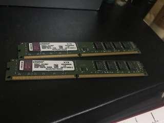 Kingston DDR3 PC133 4gb x 2