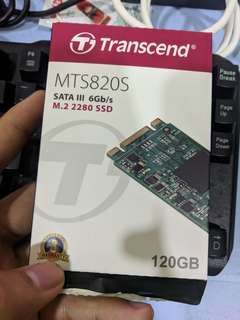 transcend MTS820S M.2 SSD 128GB used
