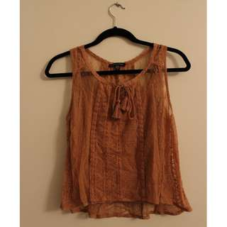 American Eagle Lace Sleeveless Top