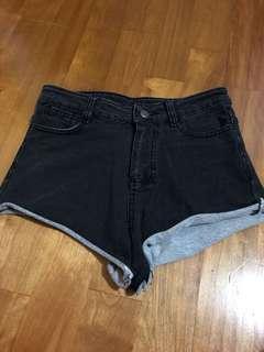 🚚 超短!黑色彈性牛仔短褲