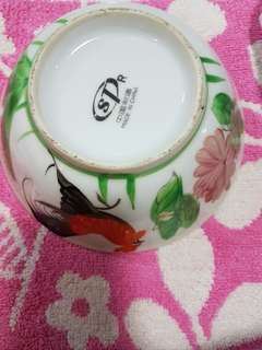 Vintage chicken bowl medium size