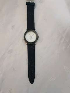 Old Broken Japan Mov't Steel Black BP0051G Watch