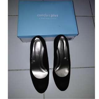 Black Suede Comfy Ladies Shoes