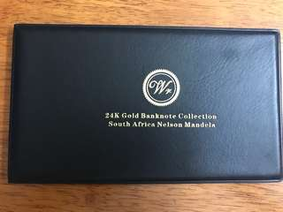 24K Gold Banknote Collectable South Africa Nelson Mandela