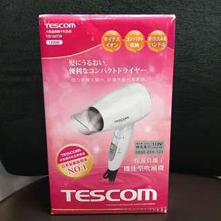 全新❤️日本TESCOM 大風量負離子吹風機 TID192TW 白色機殼