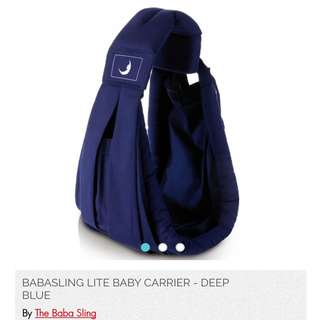 Babasling Lite baby carrier - Deep Blue (opened to try only)