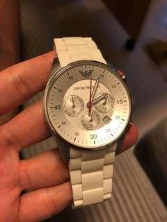 emporio armami白色手錶