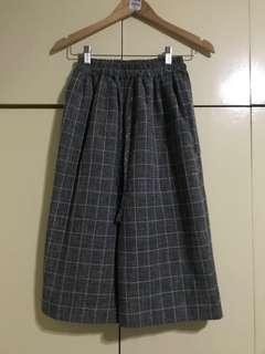 Checkered culottes