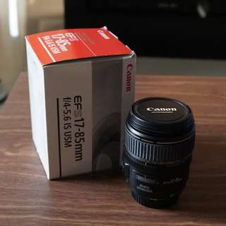 Canon EFS 17-85mm f/4-5.6 IS USM