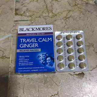 [FREE NM] *BN* 60 Tablets Blackmores Travel Calm Ginger