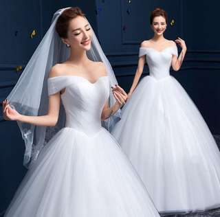 New White Wedding Dress