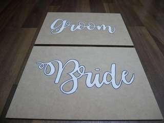 Customized wedding signage