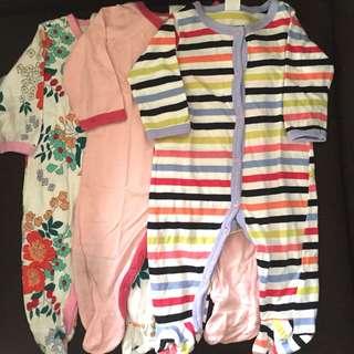 3pcs Sleepsuit Next Baby 0-3M