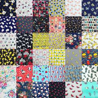 Raya promotion 10pcs combo cotton canvas fabric/kain diy cloth