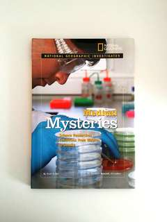 National Geographic Investigates: Medical Mysteries: Science Researches Conditions From Bizarre to Deadly by Scott Auden - Hard cover w/ Jacket, 64 pages (Children Non-Fiction Medical Science Reference)