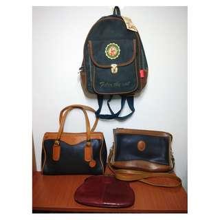 早期摩登時代 美好時光 美國製 真皮 手提包 側背包 菲力貓後背包 森林系女孩 文青魅惑
