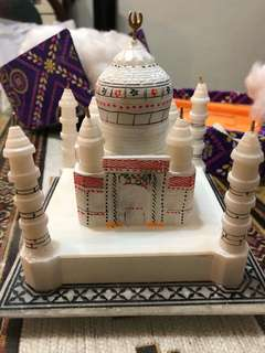 Hand made white marble temple