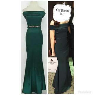 KARIMADON Emerald Green Gown