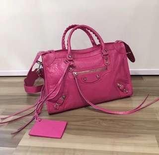 Balenciaga City Bag Classic City S 桃紅色 75折 歐洲直購 原裝正貨 可免費陪同到專門店驗貨