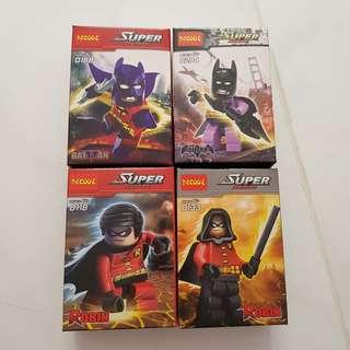 (Per box)Batman and Robin mini figurines( clearance)