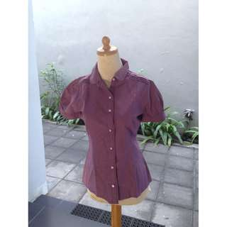 Valino Grid Purple Shirt