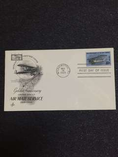 US 1968 10c 50th Anniv Air Mail Service FDC stamp