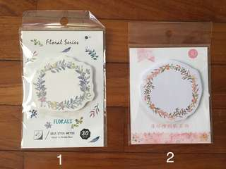 (Instock) Floral Wreath Sticky Notes/ Post-its