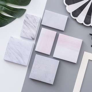 [IN] [SN] Marble / Concrete / Pink Sticky Notes (Large)