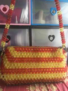 Red/Yellow Beads Bag