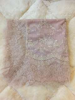 French lace scarf by Emily Cheong