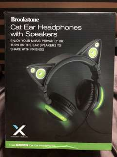 Axent Wear Green Cat Ear Headphones with Speakers