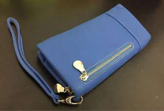 Zip around wallet in Royal Blue