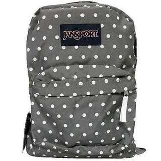 Original Jansport grey polka dot