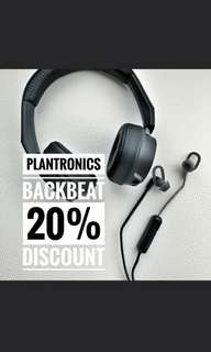 New Plantronics Backbeat FIT 505 at 20% disc coupon code