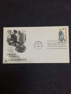 US 1968 Law & Order FDC stamp