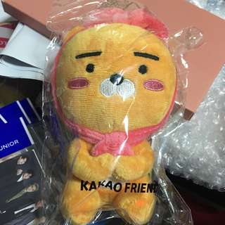 Sealed Instock Official Kakao Friends plush doll ribbon Ryan