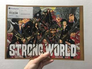 Strong World One Piece illustration book