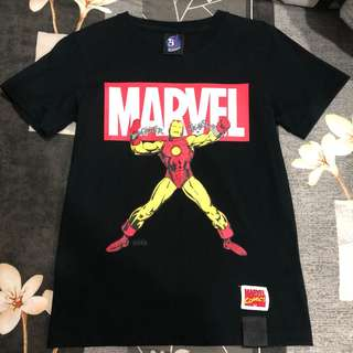 🚚 Outerspace marvel 鋼鐵人聯名短t
