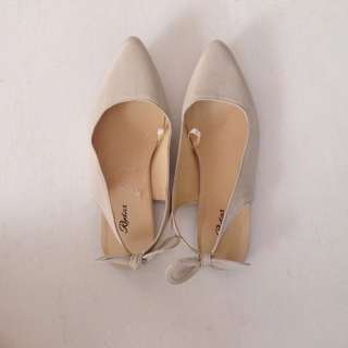 Beige Pointed Shoes