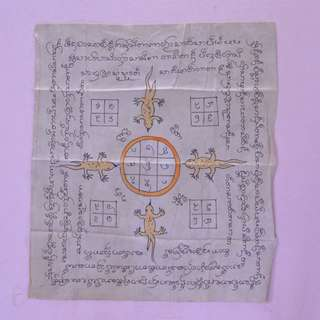 Old hand draw temple cloth(Lanna phayant)
