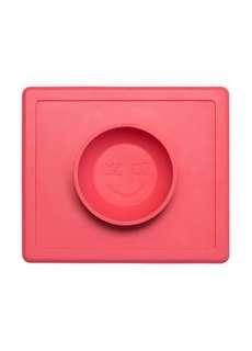 🚚 2手。美國EZPZ矽膠防滑餐碗(珊瑚紅/寶石藍)