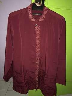 #mausupreme Baju Koko maroon