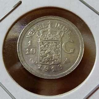 Nederland 1/10G 1919 Free Post