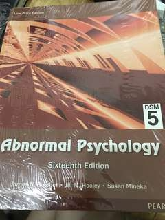 Abnormal Psychology DSM5 16th edition by Butcher,Hooley and Mineka