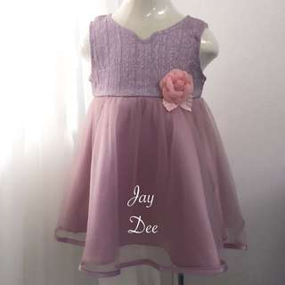 ❤️Baby Tutu Dress (Dusty Pink Rose)❤️