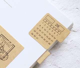 Kraftpaper Minimalist Vintage Calendar Stickers