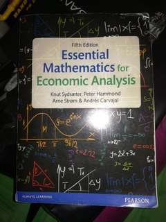 Buku mathematics economic Pearson (fotokopian)