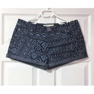 Cotton On Aztec Denim Shorts - Size 12