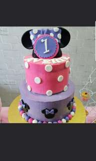Customised 2 tier Cake/ Mickey Mouse