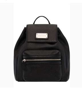 Oroton leather black backpack